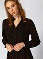 Black Pepper Desenli Uzun Elbise Renkli